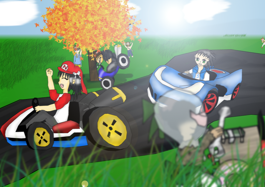 FANART - Day at the Kart Races by Nenna