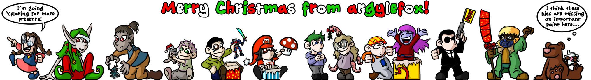 FANART - Christmas Kids by argylefox