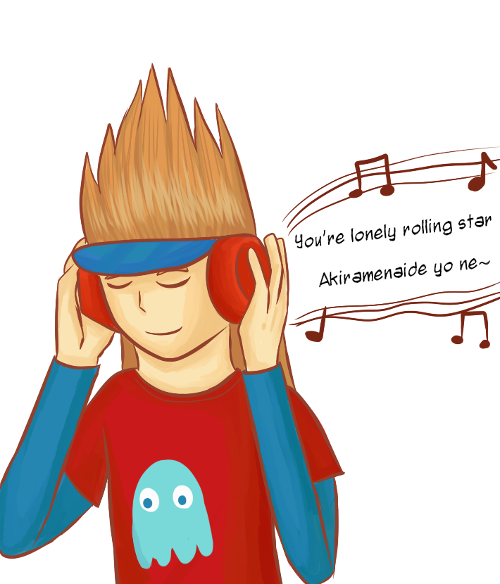 Namco with headphones